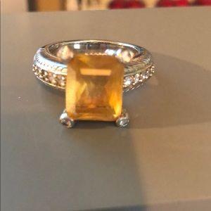 Judith Ripka Sterling Silver & Citrine Ring
